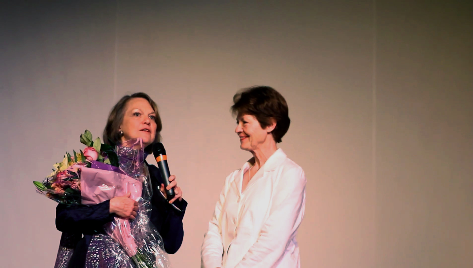 Filmmaker Alexandra Branyon with Laquita Thomson