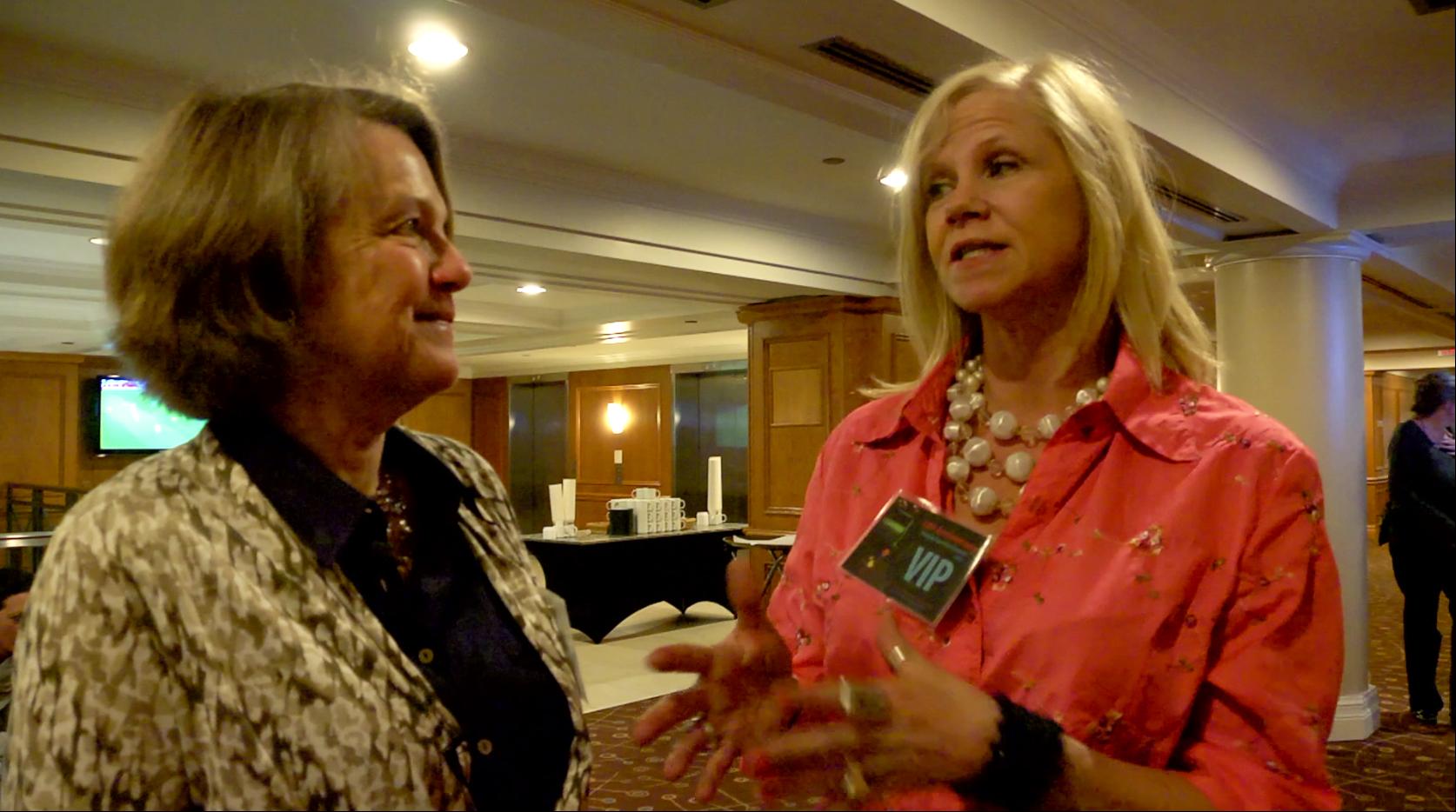 Filmmaker Alexandra Branyon with Leslie Ann Coles