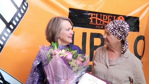 Filmmaker Alexandra Branyon with Pat Rasberry