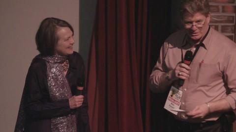 Filmmaker Alexandra Branyon with Mike Russell